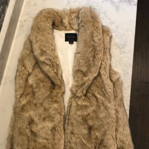 Faux fur vest from Anthropologie
